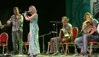 members of Danú performing at the Ireland Folkfest Killarney at the INEC Killarney
