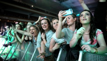 Excited fans at the Kodaline concert at the INEC Killarney