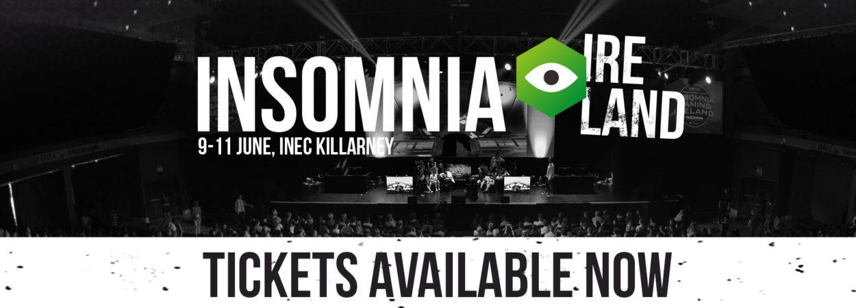 Insomnia Gaming Ireland returns to the INEC Killarney –  9-11 June 2017