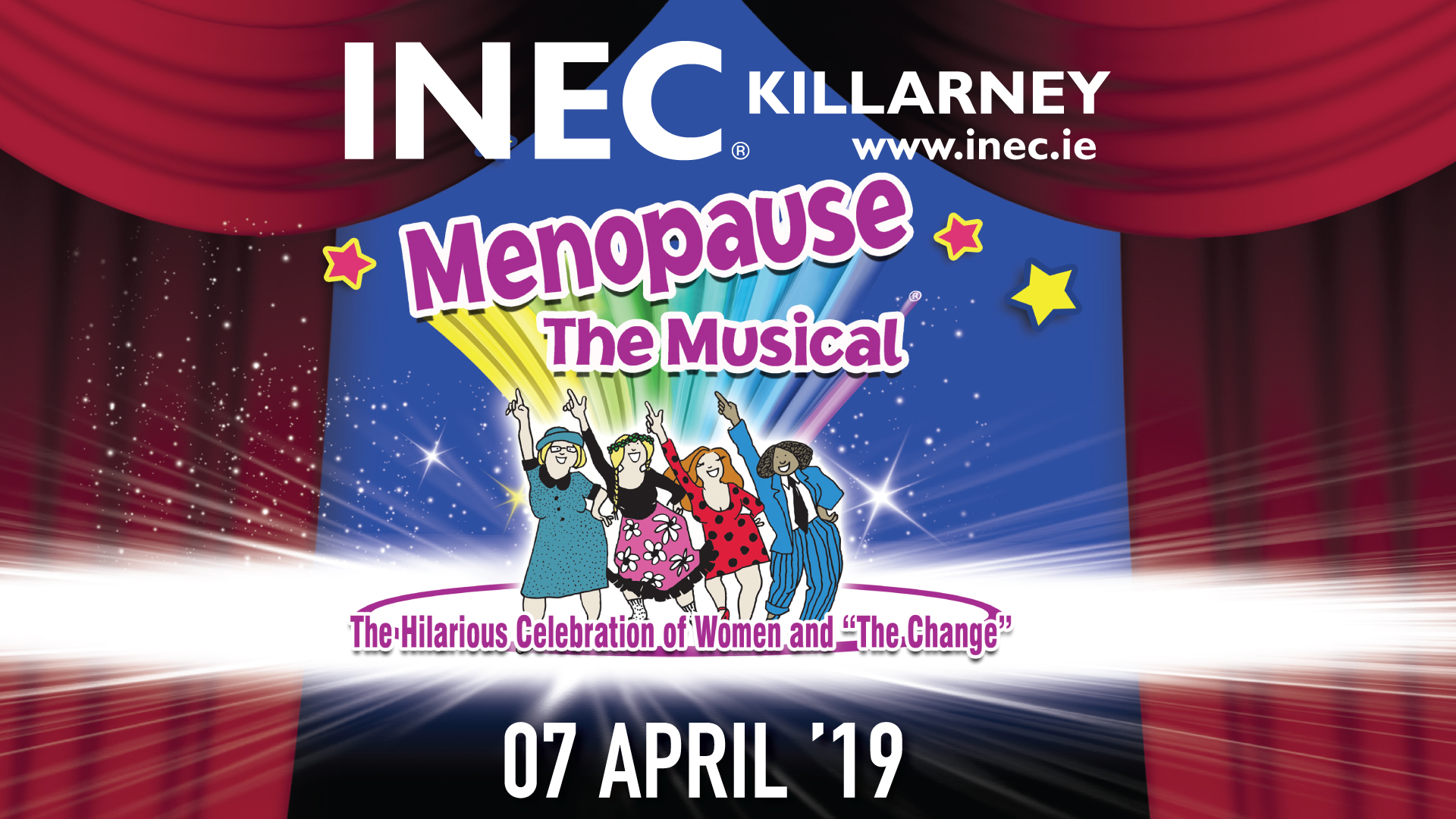 Menopause the Musical comes to the INEC Killarney on 7th April 2019